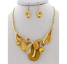 Falling Breeze Necklace Set - Gold
