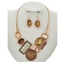 All Ablaze Necklace Set - Rose Gold