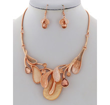Falling Breeze Necklace Set - Rose Gold