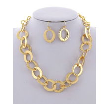 In N Out Necklace Set - Gold