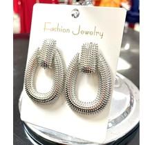 Hang Tight Earrings - Silver