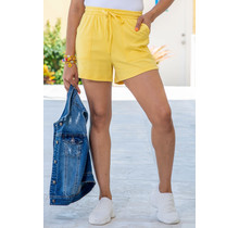 Throw On & Go Drawstring Shorts Yellow