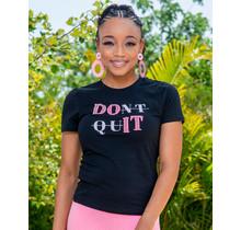 Don't Quit Embellished T-Shirt