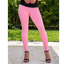 Best Assets Leggings - Bright Pink