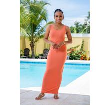 Top Trend Maxi Dress - Coral