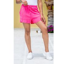 Throw On & Go Drawstring Shorts - Fuchsia