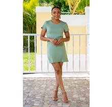 Big On Comfort Drawstring Dress - Green