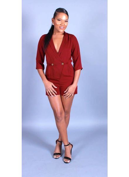 Suited Up Romper