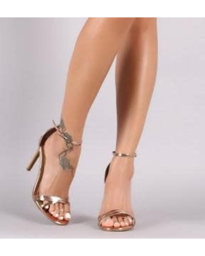 Never Wrong Heels - Gold Patent