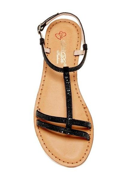 High Class Bling Sandals - Black