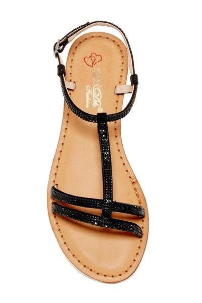 High Class Bling Sandals - Black