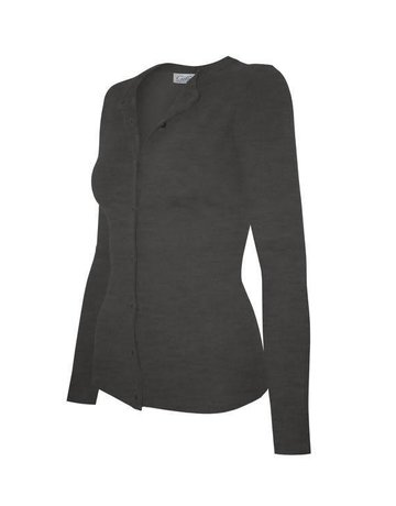 Charcoal Grey Round Neck Cardigan