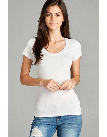 White Round Neck T-Shirt