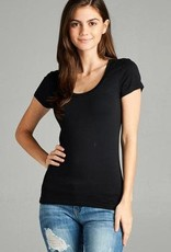 Black Round Neck T-Shirt