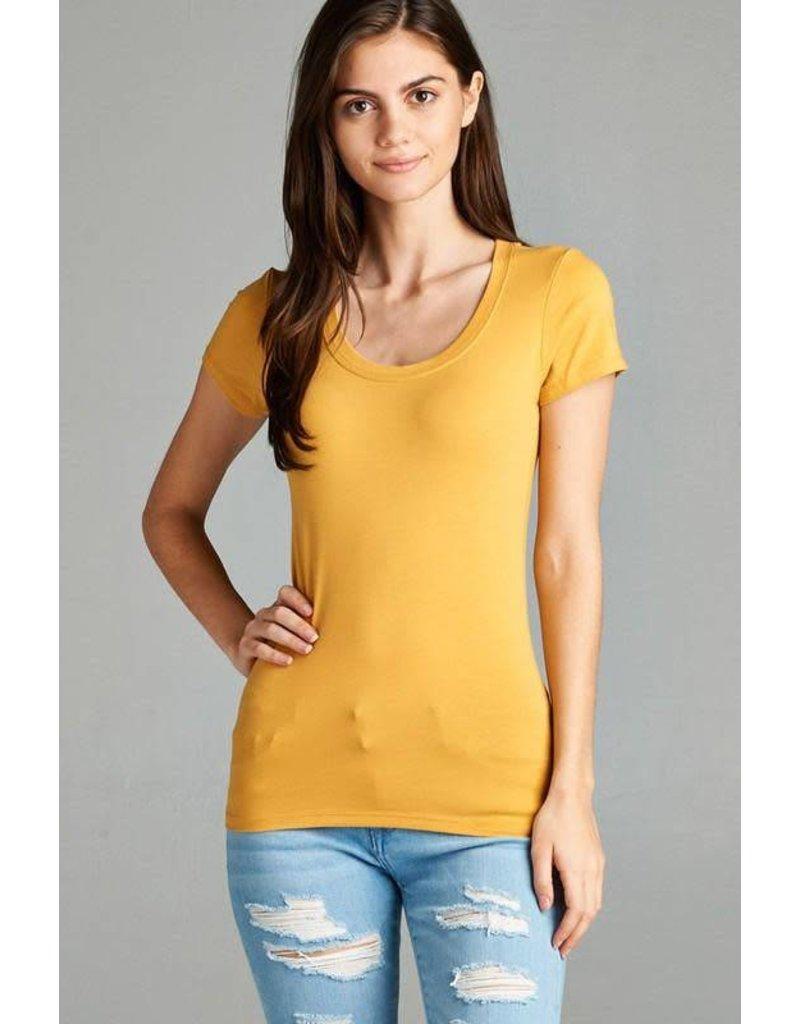 Yellow Round Neck T-Shirt