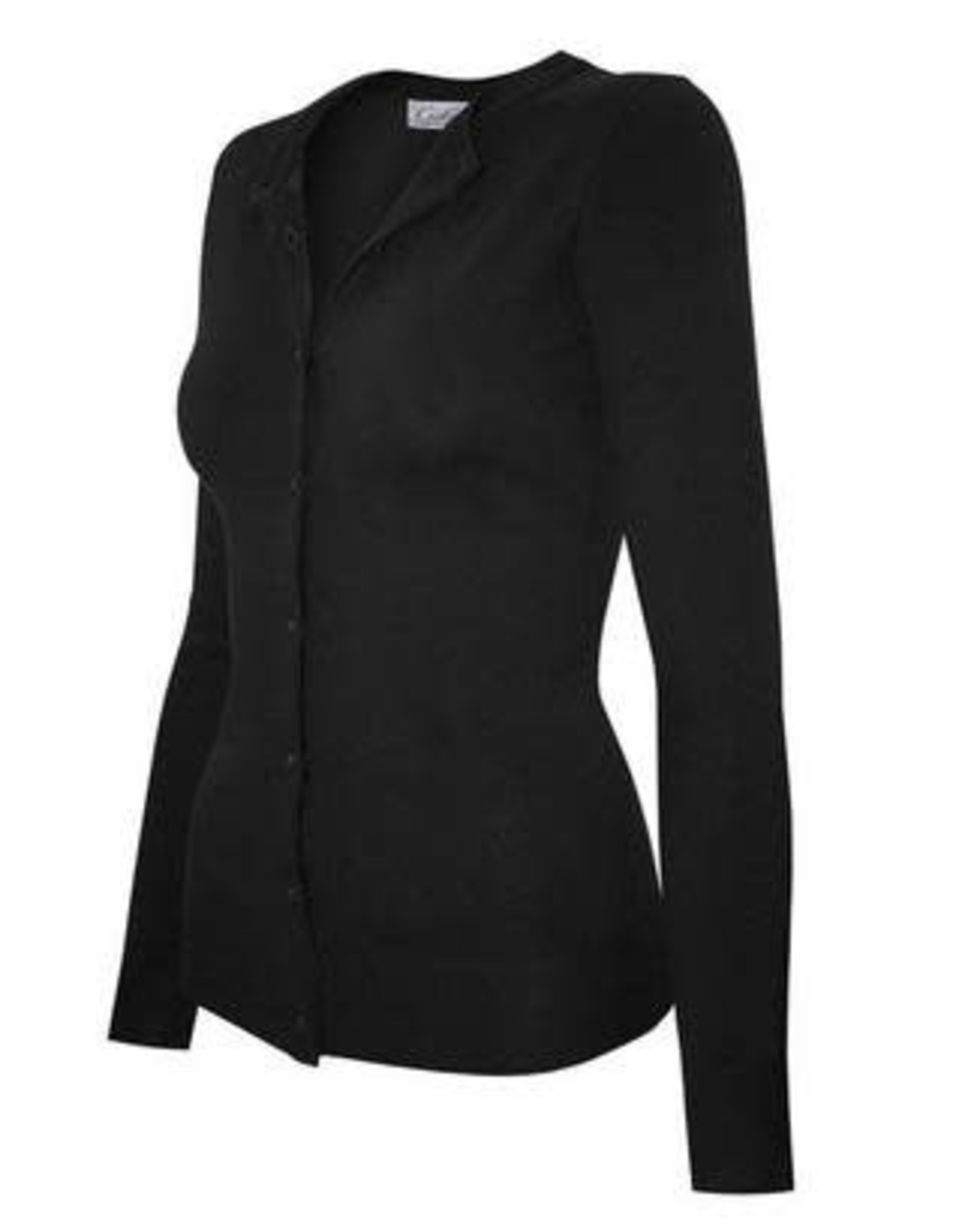 Black Round Neck Cardigan