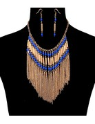 Dancing Beads Necklace Set - Blue