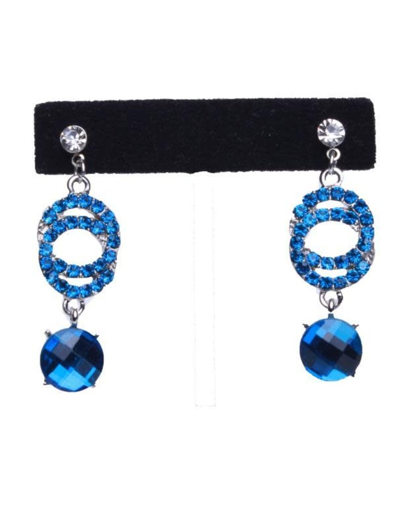 Over Crystals Drop Earrings