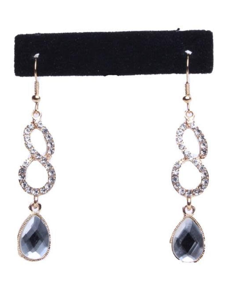 Looped N Jewel Drop Earrings
