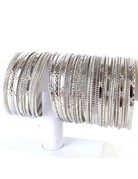 Mixed Silvers Stackable Bracelet - Silver