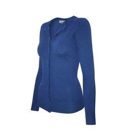 Cobalt Blue Round Neck Cardigan