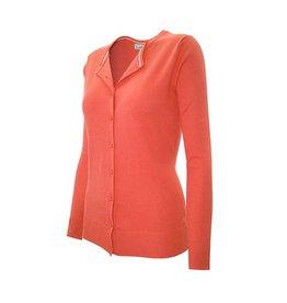Orange Round Neck Cardigan