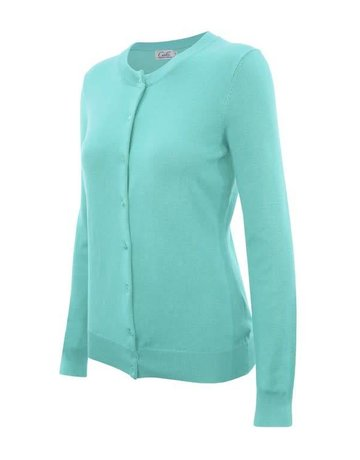 Mint Round Neck Cardigan