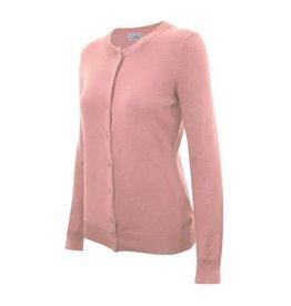 Dusty Pink Round Neck Cardigan