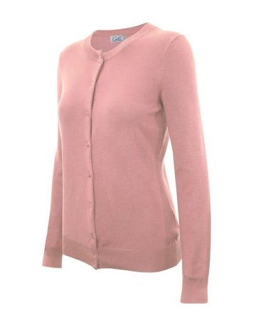 Dusty Pink Round Neck Cardigan