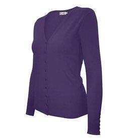Purple V Neck Cardigan