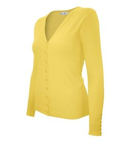 Yellow V Neck Cardigan