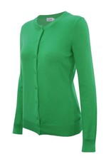 Apple Green Round Neck Cardigan
