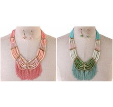 Less Hassle More Tassel Necklace Set