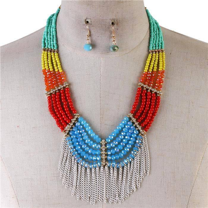 Less Hassle More Tassel Necklace Set