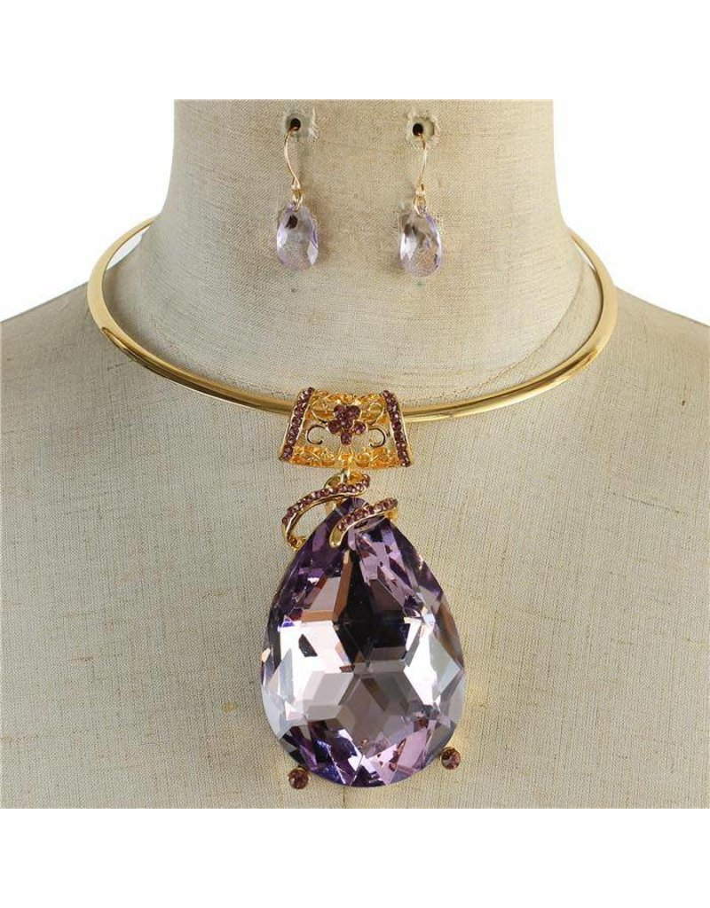 Jewel Drop Necklace Set