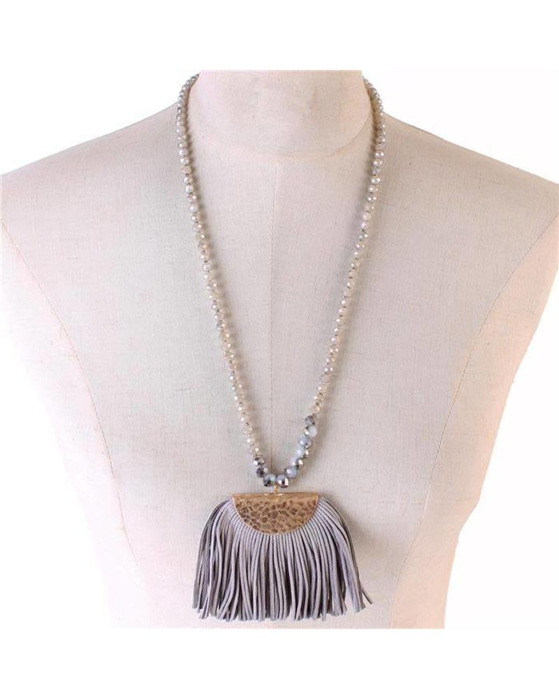Brush of Tassels Necklace