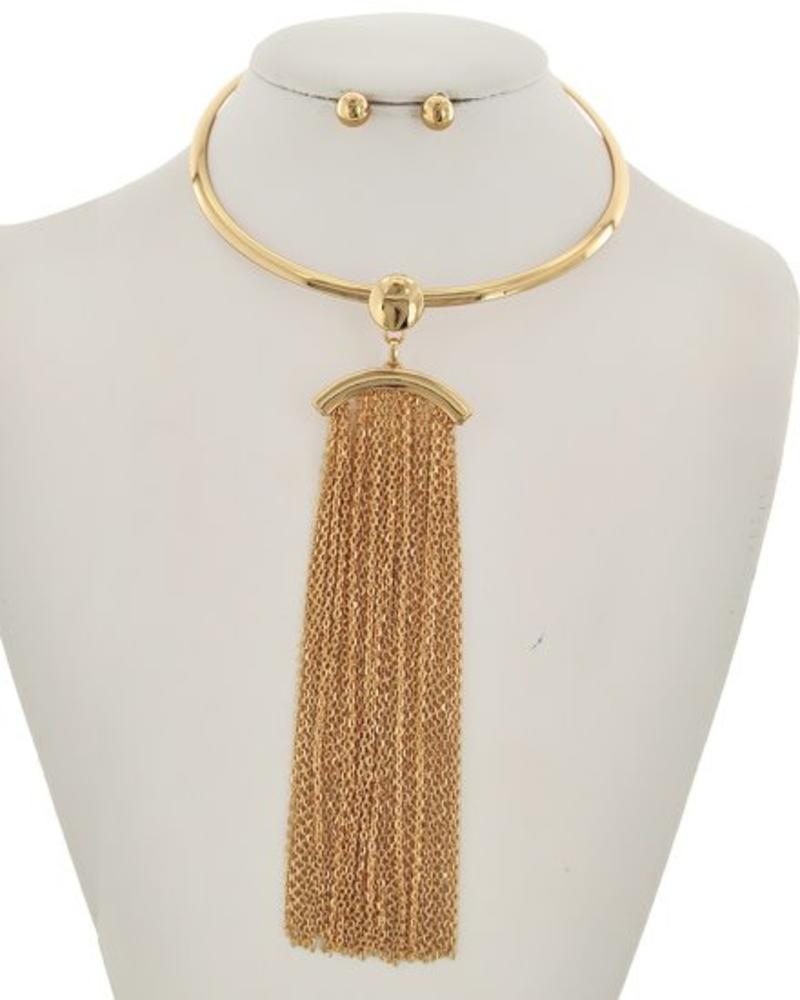 Left Stranded Necklace Set Gold