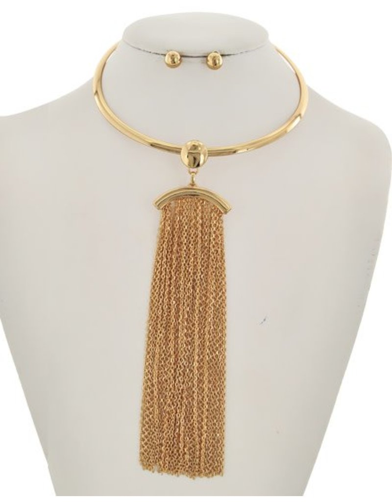 Left Stranded Necklace Set Gold
