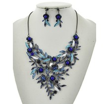 Branches Of Beauty Necklace Set Blue