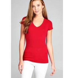 Red V Neck T-Shirt