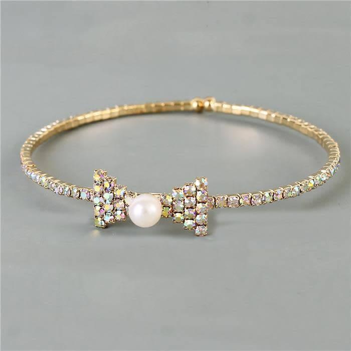 Bow Tie Pearl Bracelet