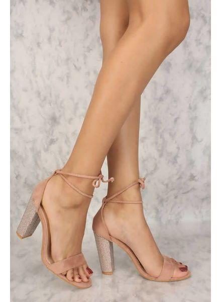 Surprise Bling Block Heels