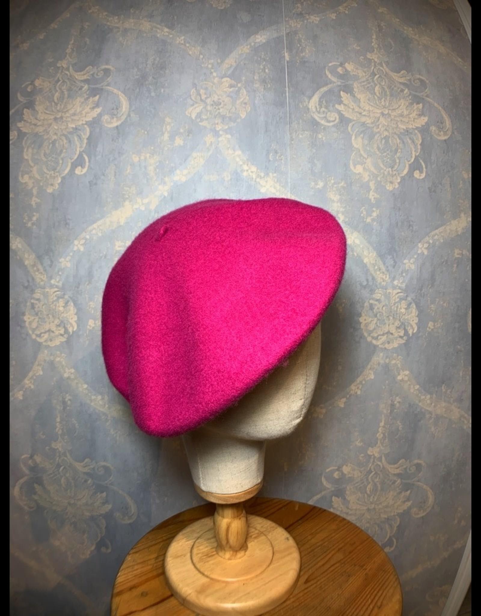 Cappelleria Bertacchi Beret Dark pink