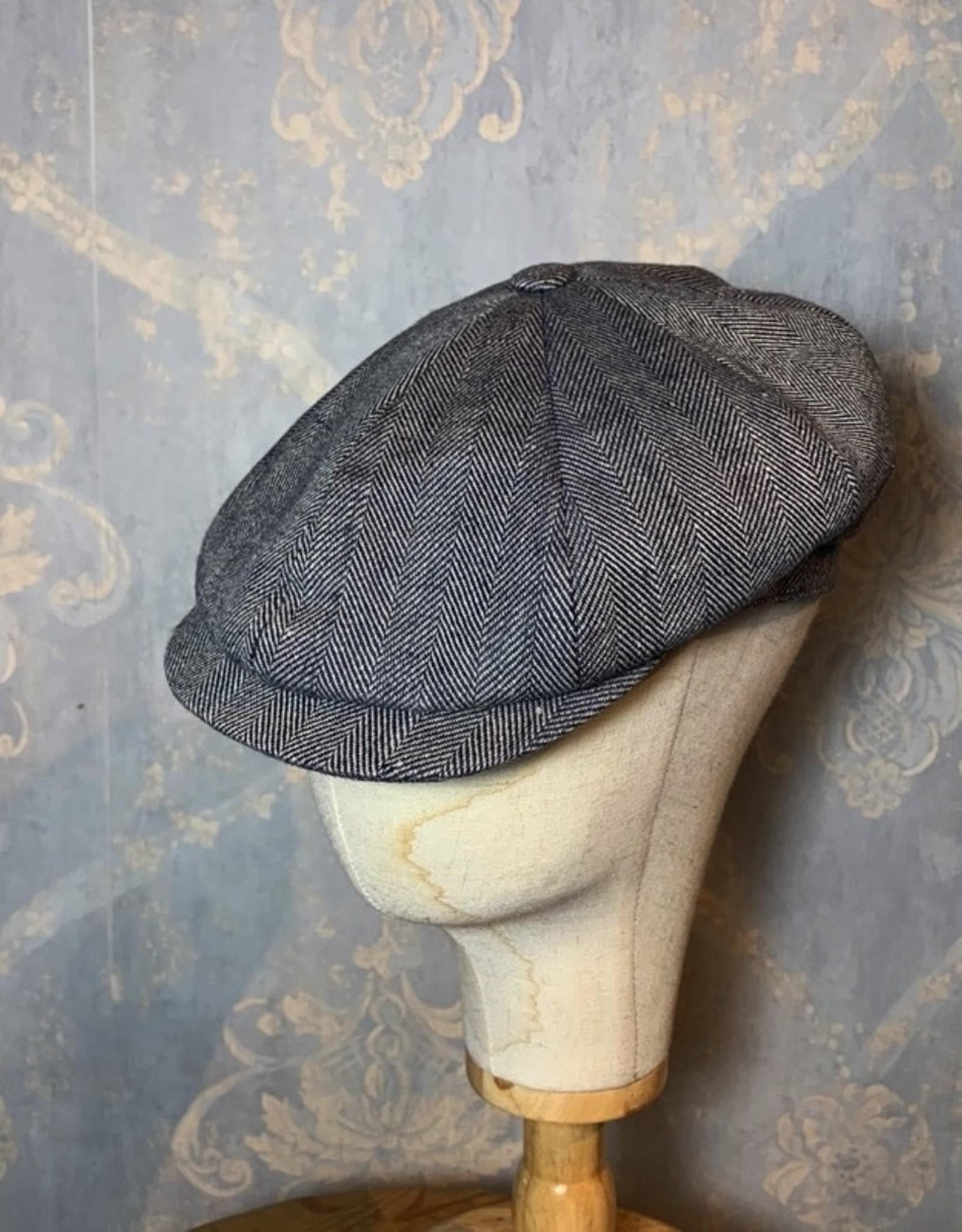 Cappelleria Bertacchi Newsboy 1920 Grey linen