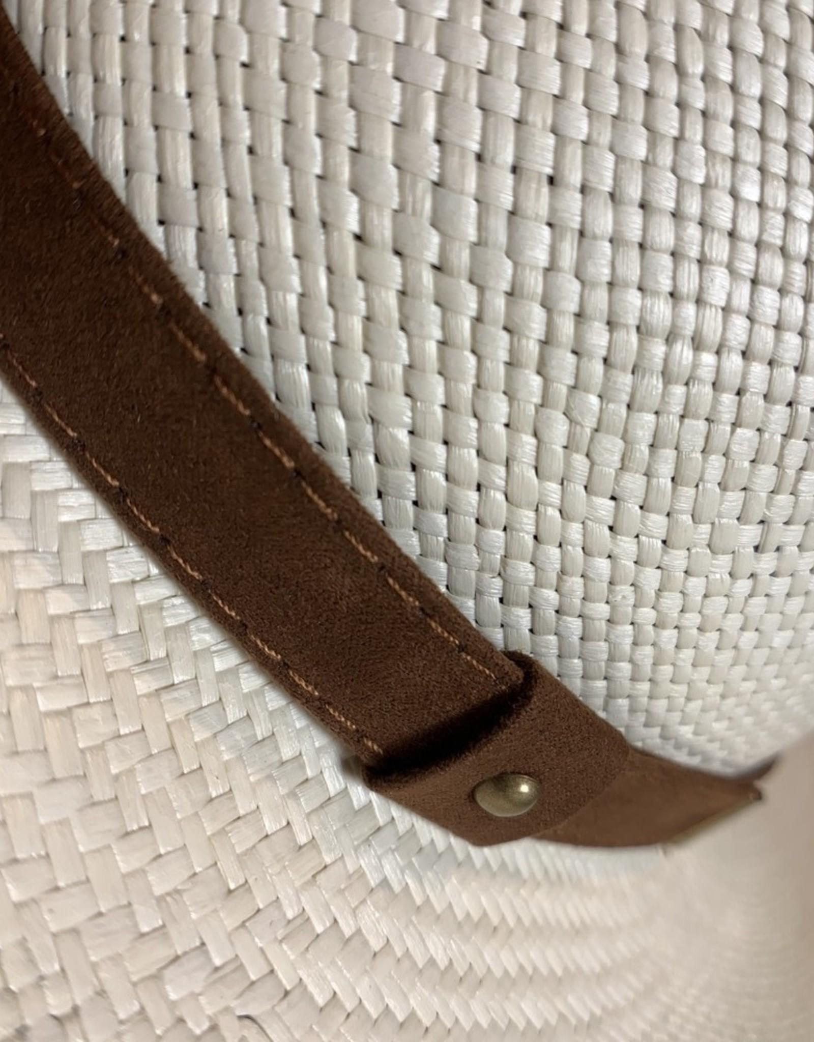 Cappelleria Bertacchi Panama Western Fedora leather band