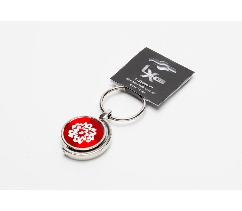 SVA Flower Spinner Keychain - Red