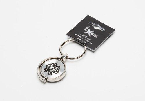 SVA Flower Spinner Keychain - SIlver