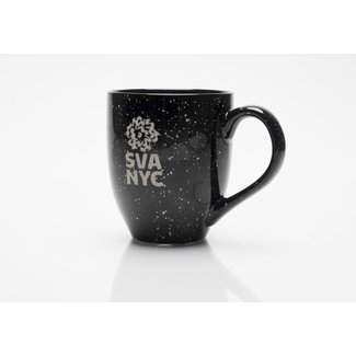 SVA Logo Mug - Black Speckled