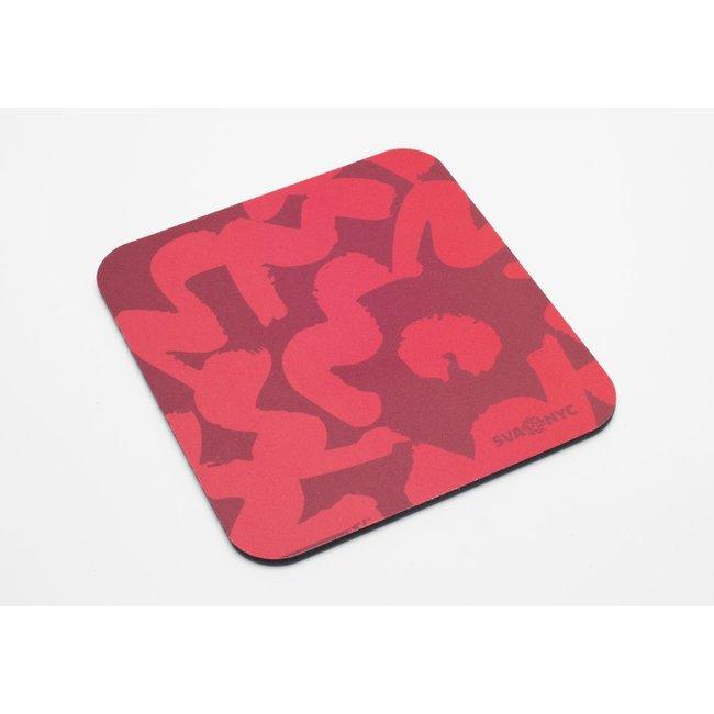 SVA Flower Mousepad - Red