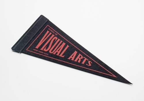 Collegiate Pennant - Black & Red